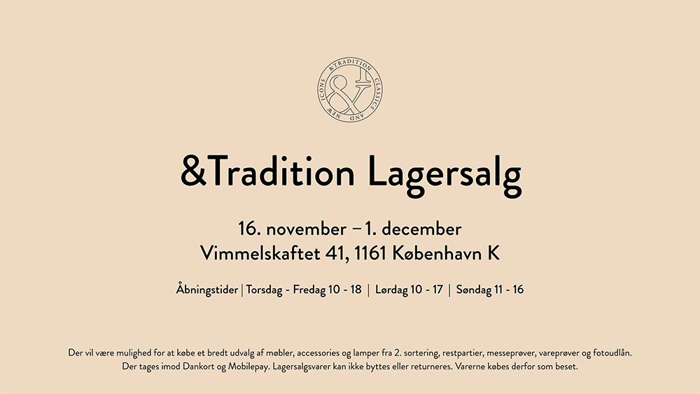 andTradition design lagersalg;