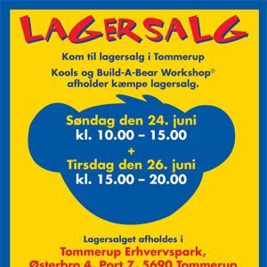 Build-A-Bear Workshop lagersalg;