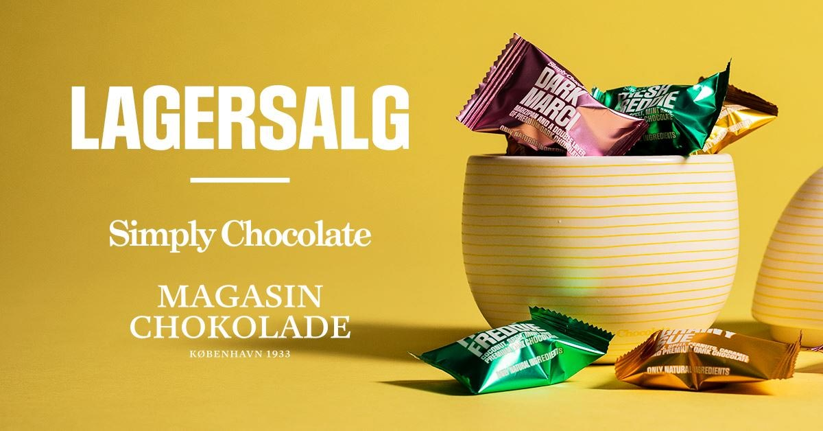 Simply Chocolate lagersalg;