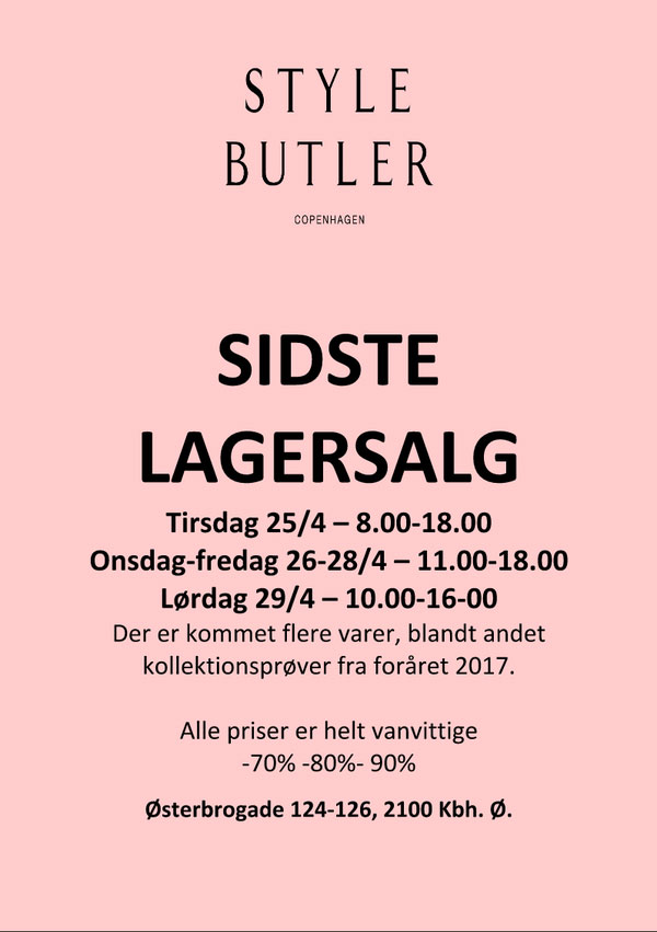 Style Butler Lagersalg;