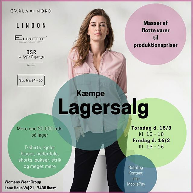 Womens wear group lagersalg;
