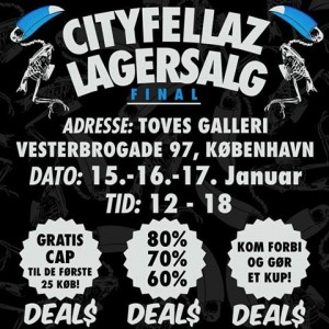 mere information omkring Cityfellaz lagersalg