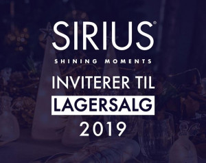 mere information omkring Sirius lagersalg