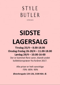 mere information omkring Style Butler Lagersalg